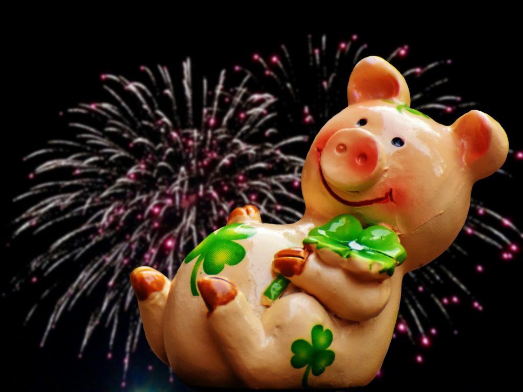 Марта, картинки с свиньями новогодние